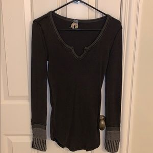 Free People shirt black size PS